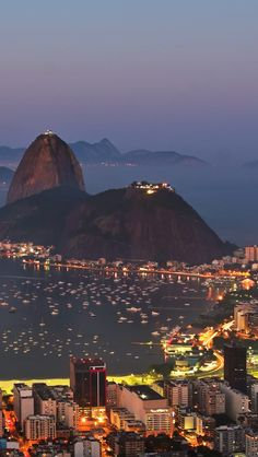 Harbor Of Rio De Janeiro By Night