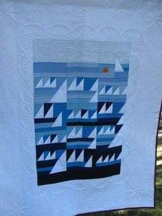 Moderen sail boat quilt
