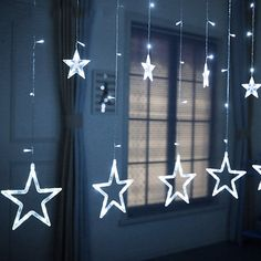 Twinkle Star 12 Stars 138 LED Curtain String Lights Window Curtain Lights with 8 Flashing Modes Decoration for Christmas Wedding Party Home Patio Lawn White * Discover more by going to the picture web link. (This is an affiliate link). Star Christmas Lights, Decorating With Christmas Lights, Christmas Decorations, Ramadan Decorations, Led Curtain Lights, Hanging Lights, Fairy Lights, Window Lights, Twinkle Lights Bedroom