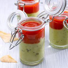 Guacamole au coulis de tomates, mouillettes de brick. Recette : T. Debéthune. Photo : C. Herlédan. Découvrez la recette sur https://www.facebook.com/LesProduitsLaitiers/photos/a.739395296101295.1073741836.136045459769618/739395369434621/?type=3&theater  #entree #starter #appetizers #snack #miam #cuisine #gourmandise #gastronomie #produitslaitiers #dairy #gastronomy #lait #milk #delicious #foodporn #recette #recipe #food