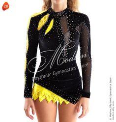 Léotard # 28: Gymnastique rythmique Léotard, Robe de patinage artistique, Costume Gymnastique acrobatique, Combinaison ou robe de danse