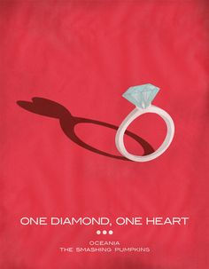 One Diamond, One Heart - The Smashing Pumpkins 'Oceania' Stretched Canvas
