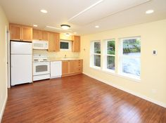 Garage Conversion to Backyard Cottage - traditional - living room - seattle - microhouse