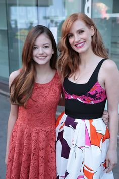 mackenzie foy and jessica chastain (interstellar)