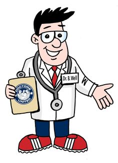 """This is DOCTORS UNITED's  Mascot, Dr. B. Well opening up his hands to show that """"all are welcome""""."""