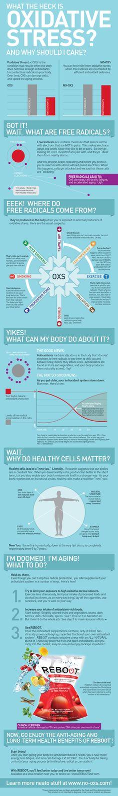 Oxidative Stress #Health #Infographics hava kirliliği önemli nedenlerden