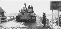 Crossing a bridge is often dangerous for the weighty Tiger, but even more so in the ice and snow .s.Pz.Abt 501, Eastern Front | Flickr - Photo Sharing!
