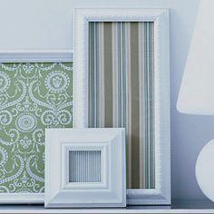 Framed fabric = diy wall art