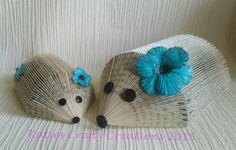 Handmade Book folded hedgehogs... flower variation... beautiful gift.. New home, birthday, teacher, anniversary etc rustic upcycled