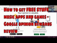 How to get FREE STUFF music apps and games - Google opinion rewards review - YouTube