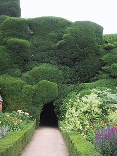 The gardens at Powis Castle in Wales.