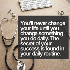 The secret to your success is found in your daily routine.  #premed #MCAT #mcatprep #motivation #futuredoctor
