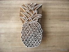 Pineapple Print Stamp Tropical Fruit Pottery Printing Stamp