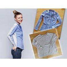 Se mire por donde se mire, con este modelo que combina una blusa y un jersey, el factor sorpresa está servido