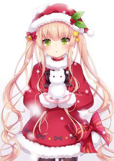 Santa with a snow cat ...