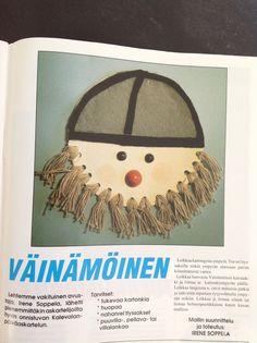Käsityö ja askartelu 5/1989 Vikings, Christmas Ornaments, Holiday Decor, Crafts, Home Decor, Xmas Ornaments, Homemade Home Decor, Christmas Jewelry, Christmas Ornament