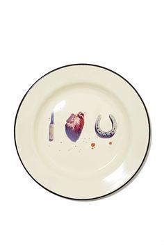 Seletti Wears Toiletpaper Plate - I Love You