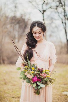 образ для фотосессии на природе #wedding #bride #boho
