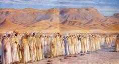 Algérie - Peintre  Français, Alphonse Etienne DINET(1861-1929), huile sur toile  ,Intitulée: La prière de l'Aîd el Fitr