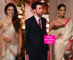 Ranbir Kapoor Sonam Kapoor R Madhavan and Dino Morea grace Bipasha Basu and Karan Singh Grovers reception  view pics!
