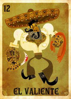 El Valiente art poster / art print by character design by Jorge Gutierrez.  Mexopolis. #poster #print #art