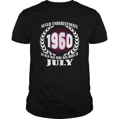 Awesome Tee 07 July 1960 Shirts Year never underestimate an old men Shirts Birthday Tshirts Guys tees ladies tees Hoodie youth Sweat Vneck Shirt for Men and Family T shirts