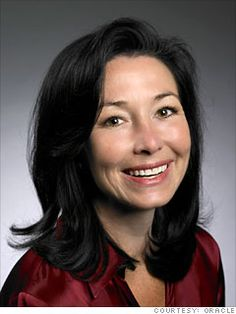 10. Safra Catz  President and CFO  Oracle  2011 rank: 11  Age: 50  Catz is comfortable sharing power -- ex-HP chief Mark Hurd is also an Oracle president -- perhaps because she's in charge of the software maker's mighty M machine, which has announced 10 deals valued at more than 5 billion in the last year alone.
