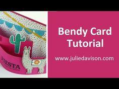 Stampin' Up! VIDEO Tutorial: How to Make a Bendy Card #stampinup www.juliedavison.com