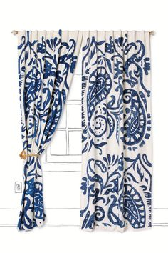navy and white window treatments, love this for my living room/patio french doors...