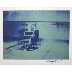 Andy WARHOL, Signed Print, Electric Chair