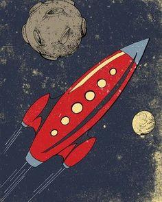retro rocket.: