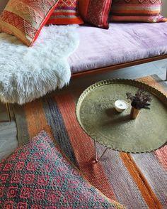 A cozy shop corner #Cambie #Design #Toronto #Peruvian #Textiles #Cushions #Vintage