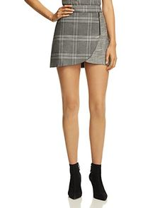 Alice and Olivia Alice + Olivia Lennon Zip Detail Plaid Mini Skirt Women - Bloomingdale's Plaid Mini Skirt, Mini Skirts, Gray Skirt, Alice Olivia, Street Style Women, Autumn Fashion, Zip, Fall Fashions, Womens Fashion