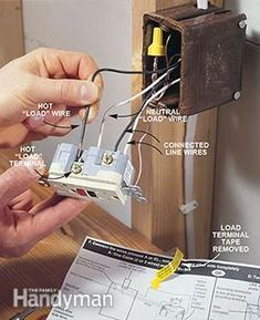 Photo 3 shows how to connect other outlets when you install a GFCI outlet.