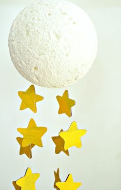 Moon craft mobile to go along with the children's picture book, Mother, What is the Moon?
