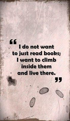 Fantasy about reading books ...