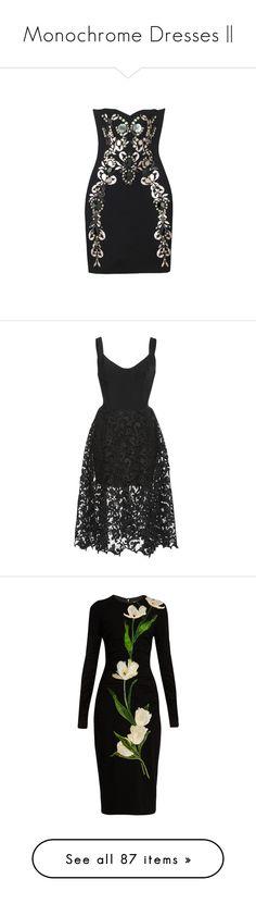 """Monochrome Dresses ||"" by karma-kween ❤ liked on Polyvore featuring dresses, lanvin, vestidos, lanvin dress, mini dress, short dresses, oscar de la renta, black, sleeveless dress and oscar de la renta dresses"