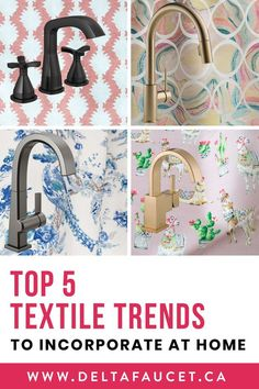 Get Inspired. Top 5 Textile Trends to Try At Home White Kitchen Inspiration, Bathroom Inspiration, Design Inspiration, Small White Kitchens, Textile Patterns, Textiles, Unique Tile, White Wall Decor, Kitchen And Bath Design