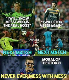 There's only one Leo Messi. Messi Vs, Messi Soccer, Messi And Ronaldo, Ronaldo Memes, Ronaldo Juventus, Funny Soccer Memes, Sports Memes, Soccer Humor, Funny Memes