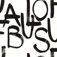 356140 Cream Brushstroke Text - Fabulous - Black And Light Wallpaper by Eijffinger