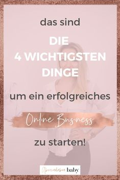 The 4 most important points to start a successful online business! Facebook Marketing, Business Marketing, Business Tips, Social Media Marketing, Affiliate Marketing, Marketing Tools, Make Money Online, How To Make Money, Buyer Persona