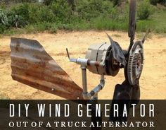 Build A Wind Generator Out Of A Truck Alternator | Build a wind generator by using a regular truck alternator to power various types of electrical devices.