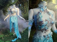 It's been some time since we last checked in on Firefly Path, but they're still making some of the best custom fantasy gowns on the planet. Check out some recent designs below. Pretty Dresses, Beautiful Dresses, Fantasy Gowns, Fantasy Clothes, Fantasias Halloween, Fairy Clothes, Cool Outfits, Fashion Outfits, Fairy Dress