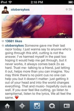 if anyone says Oli Sykes isn't a hero, you're stupid.