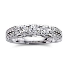 Lovely T W Diamond Stone Engagement Ring