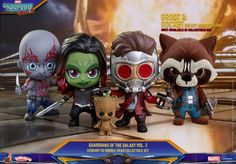 The latest entry to the Marvel Cinematic Universe, Guardians of the Galaxy Vol. 2, is coming to theaters around the world very soon! Fans' favorite galaxy-saving crew is back with new looks and gears continuing their adventure in the great cosmos.    In anticipation to this exciting film's release, Hot Toys is pleased to introduce a series of Cosbaby based on this movie for all Cosbaby fans.  The Guardians of the Galaxy Vol. 2 Cosbaby Bobble-Head series includes Star-Lord, Rocket, Groot…