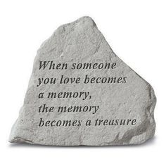 Stone Memorial Garden Accent and Plaque: Kayberry: When Someone You Love Mini Awesome Wall Plaques with sayings Memorial Garden Stones, Memorial Gardens, Garden Plaques, Garden Signs, Grave Decorations, Cast Stone, Sympathy Gifts, Sympathy Messages, Wall Plaques