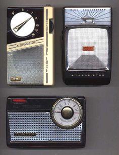 """Orion """"Hilton"""" TR6A, Honeytone 8TP-412, Jupiter 5T-210 pocket transistor radios"""