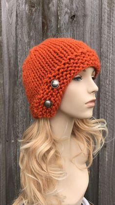 Beanie Knitting Patterns Free, Baby Hats Knitting, Loom Knitting, Knitted Hats, Crochet Santa, Knit Crochet, Knit Beanie Hat, Beanies, Cloche Hat