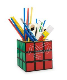 Rubik's Cube Pencil Holder #gifts